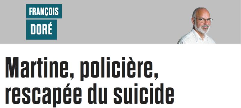 Martine, policière, rescapée du suicide