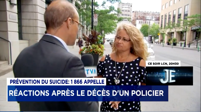 Réactions après le décès d'un policier : entrevue avec la policière Martine Laurier